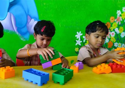 Amrita Vidyalayam - kids building blocks